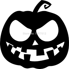spooky halloween clipart black and white scary pumpkin clipart