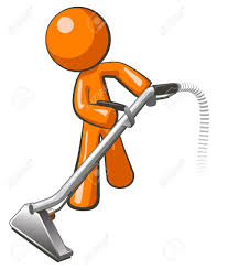 orange with steam cleaner carpet wand extracting floor