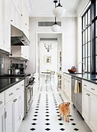 cuisine et blanc carrelage cuisine noir et blanc élégant carrelage vintage cuisine