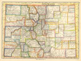 Map Of Colorado Cities And Towns by Antique Maps Of Colorado