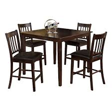 furniture of america cm3012pt 5pk west creek counter height dining
