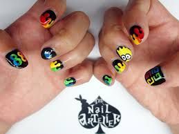 nail art g dragon one of a kind concert themed nails the nail