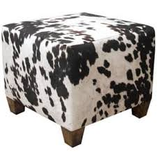 Animal Print Storage Ottoman Decor Brown White Cow Hide Storage Ottoman By Inspire Q Bold