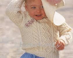 baby knitting pattern baby aran sweater baby aran cardigan childs