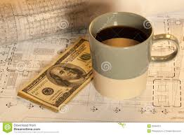 Free Architectural Design by Money And Coffee On Architectural Design Royalty Free Stock Photo