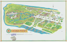Map Of Sandusky Ohio by Old Cedar Point Souvenir Park Maps 1973 1974 Information Pointbuzz