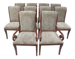 drexel heritage dining chairs set of 10 chairish