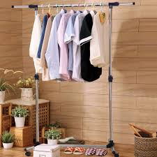 double furniture folding clothes rail hanging garment dress on