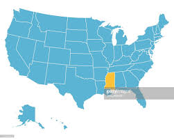 Map Of Mississippi State by Usa Map Highlighting State Of Mississippi Vector Vector Art