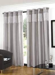 Silver Purple Curtains New Glitz Ring Top Faux Silk Sequin Curtains Red Purple Black