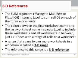 chapter 5 working with multiple worksheets and workbooks ppt