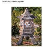 garden pagoda solar power light lantern yard lawn decor