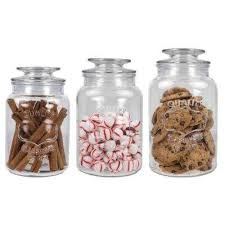 clear kitchen canisters kitchen canisters jars glass the home depot