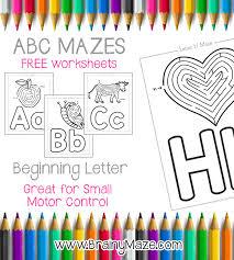 free alphabet maze printables