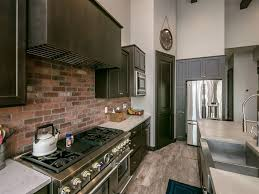 kitchen rustic backsplash ideas for kitchen with thin brick