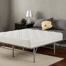 Platform Metal Bed Frame Sleep Master 6 Coil Mattress And Easy To Assemble Smart Platform
