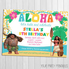 luau invitation moana luau invitation moana moana party