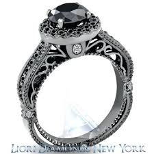 black diamond wedding ring black dimond wedding ring blushingblonde