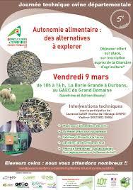 chambre agriculture lot journée technique ovine autonomie alimentaire des alternatives