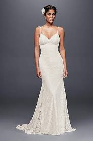fitted wedding dresses sheath form fitting wedding dresses david s bridal