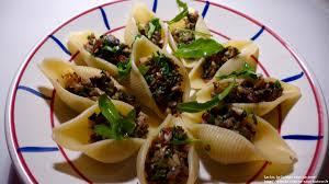 cuisine repas repas d un soir 18 conchiglioni farcies aux chignons