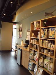 veterinary retail build in display area and refreshment station by