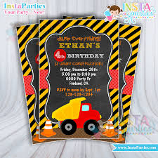 truck birthday party construction party invitations invitation trucks birthday party