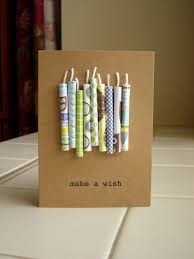 birthday candles card rolled up scrapbook paper and string so