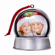 photo snow globe ornament with magnet neil