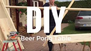 build a beer pong table diy beer pong table fabrication d une table de beer pong youtube