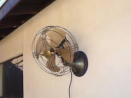 vintage wall mount fans vintage industrial 1940s ge general electric oscillating wall mount
