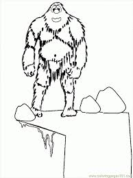abominable snowman coloring pages qlyview com