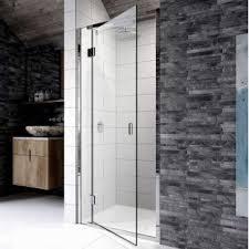 Infold Shower Doors Hinged Shower Doors With Inline Panels Semi Frameless Designs