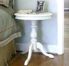 White Round Accent Table Unfinished Accent Table Side Table Weathered Wood Pedestal Side