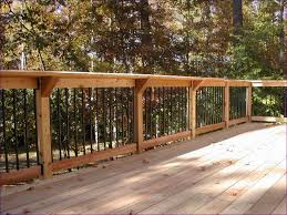 Patio Fence Ideas by Outdoor Ideas Awesome Wood Deck Railing Plans Cedar Railing
