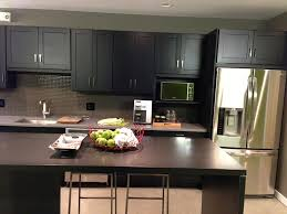 modern kitchen cabinets in island with waterfall countertop idolza