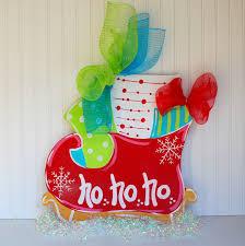 door hanger christmas santas sleigh christmas decor