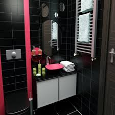 amusing 50 pink and black bathroom theme design decoration of