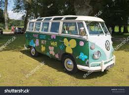 volkswagen hippie van lulworth united kingdom august 02 german stock photo 154668983