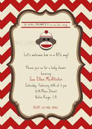 templates free monkey baby shower invitation ideas with