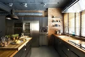 cuisine style industriel loft cuisine style usine dcoration ilot de cuisine style industriel