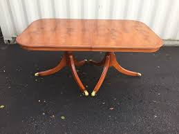Yew Dining Room Furniture Regency Style Burr Yew Tree Dining Table Sold Cc French Polishing