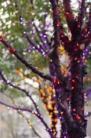 halloween purple led string lights use orange red and purple led lights and wrap them around trees or