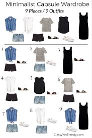 9 pieces 9 capsule wardrobe minimalist and wardrobes