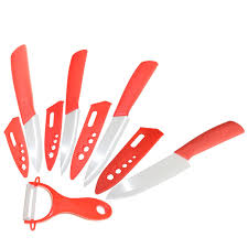 Kitchen Knives Uses 5 Pcs Sets Zirconia Ceramic Kitchen Knife Use For Cut Vegetables
