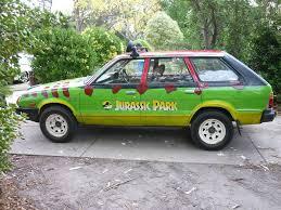 old subaru wagon jurassic park fan recreates first movie jeep says it u0027s the most