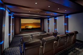 home theater examples home theater design in modern style with three lighting fixtures