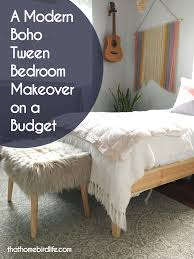 a modern boho tween bedroom makeover on a budget that homebird life