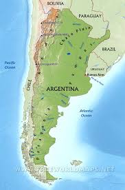 physical map of argentina argentina physical map