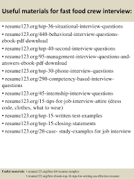 fast food resume fast food manager resume sle by food science